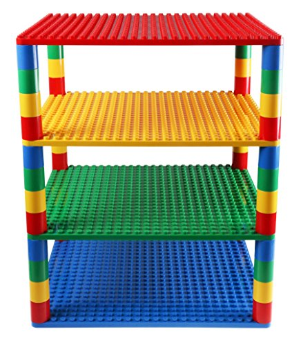 Classic Big Briks Baseplates by Strictly Bricks | 4 Stackable Base Plates 16.25
