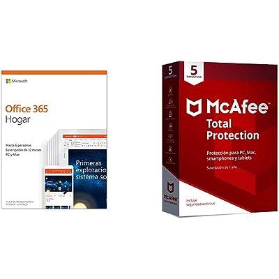 Microsoft Office 365 Hogar + McAfee Total Protection 5 Dispositivos