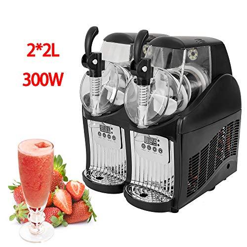 Slushy Machine, 110V 2 Tank Frozen Drink Slush Slushy Making Machine Smoothie Maker Commercial 2L x 2
