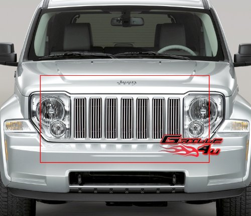 08-12 2011 2012 Jeep Liberty Vertical Billet Grille Grill Insert Jeep Billet Grill