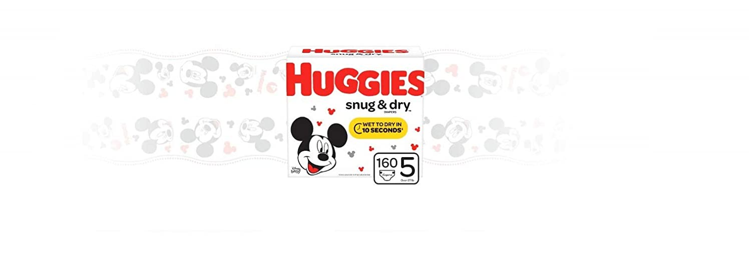 Huggies Snug /& Dry Baby Diapers Packaging May Vary Giant Pack fits 16-28 lb. Size 3 168 Count