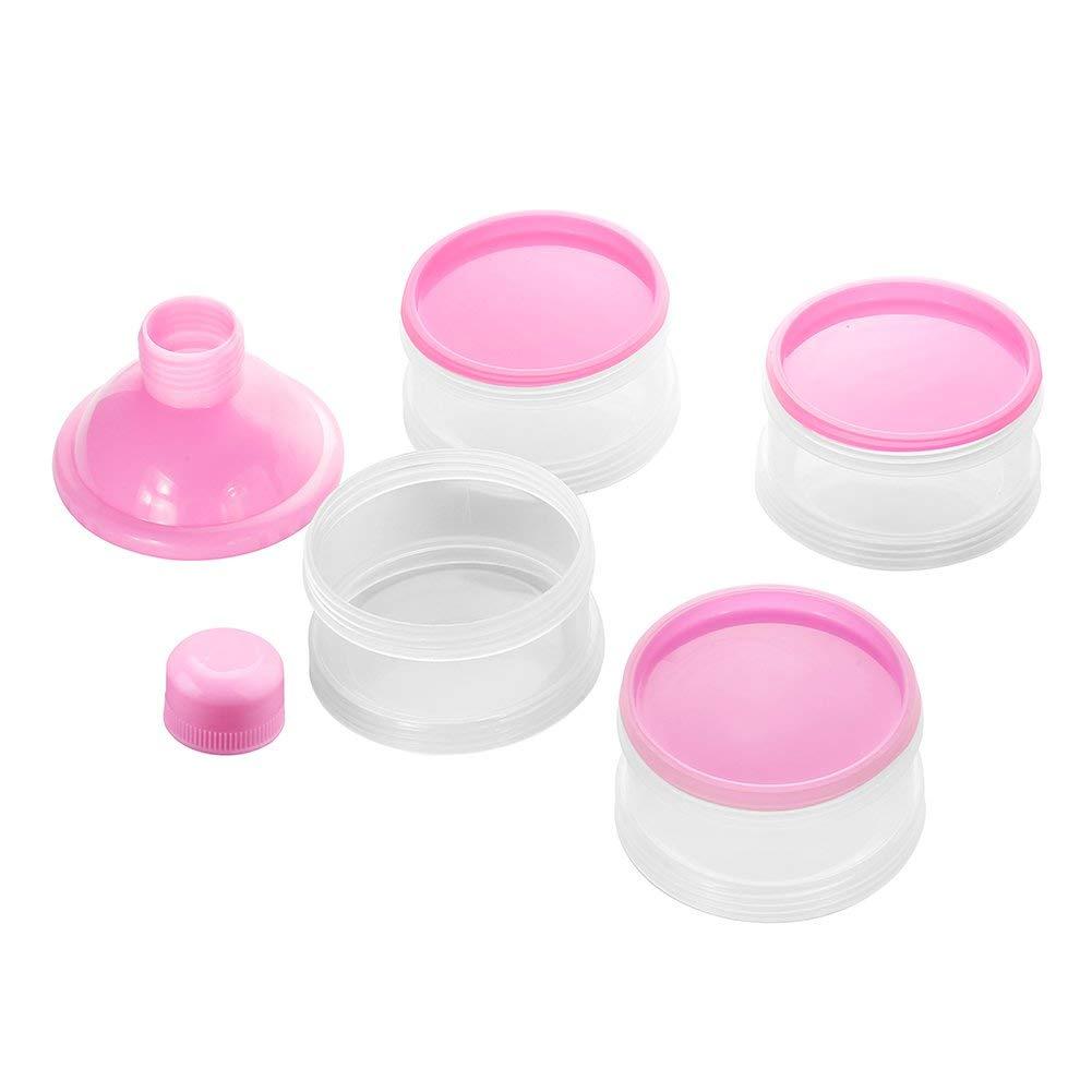 Azul Beb/é Port/átil en Polvo Box Dispensador de F/órmula,Set de recipientes para leche maternal,tupper infantile