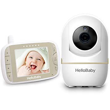 HelloBaby Video Baby Monitor with Night Vision Camera and Two Way Audio,...
