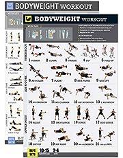 Mefeny Bodyweight Oefening Poster Set Gelamineerd 2 Grafiek Set Mannen en Vrouwen Lichaamsgewicht Trainingen voor Thuis GYM Fitness