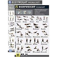 YeBetter Lichaamsgewicht Oefening Poster Set Gelamineerde 2 Grafiek Set Mannen en Vrouwen Lichaamsgewicht Workouts voor…