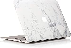 RUBAN MacBook 12 Inch Case Release (A1534) - Slim Snap On Hard Shell Protective Cover for MacBook 12, White Marble