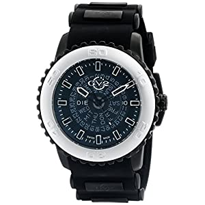 GV2 by Gevril Men's 9701 Aurora Analog Display Quartz Black Watch