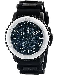 GV2 by Gevril Aurora Mens Swiss Quartz Black Silicone Strap Watch, (Model: 9701)
