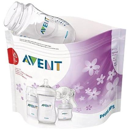Philips Avent SCF297/05 - Bolsas esterilizadoras a vapor para microondas, 5 bolsas para microondas en cada paquete