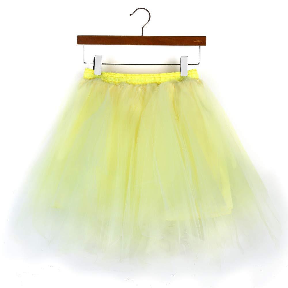 Lazzboy Donnas tut/ù Gonna Tulle Mix Colorful Petticoat Balletto Danza Organza Formato Taglia 36-48