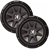 Kicker 12 CVR package - Two Kicker 10CVR122 12 Inch CompVR Series Dual Voice Coil Subwoofers