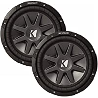 Kicker 10' CVR package - Two Kicker 10CVR102 10 Inch CompVR Series Dual Voice Coil Subwoofers