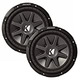 Kicker 10' CVR package - Two Kicker 10CVR104 10 Inch CompVR Series 4-ohm Dual Voice Coil Subwoofers
