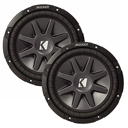 Kicker 10″ CVR package – Two Kicker 10CVR104 10 Inch CompVR Series 4-ohm Dual Voice Coil Subwoofers