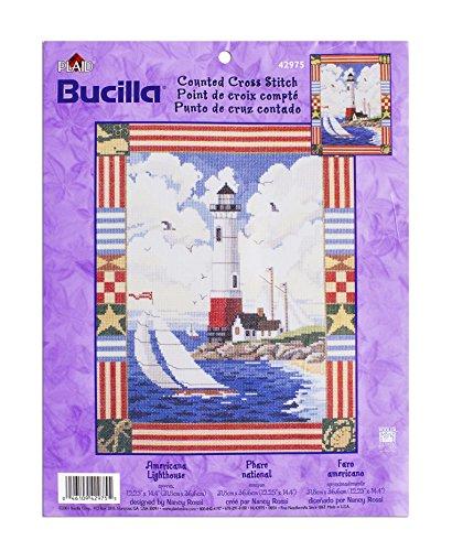 (Americana Lighthouse Counted Cross Stitch by Bucilla)