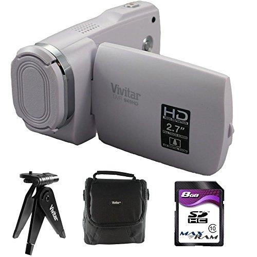 Vivitar Full HD Digital Camcorder DVR949-White Accessory Bun