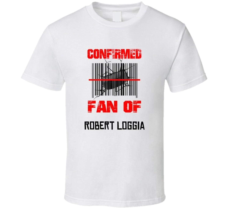 Robert Loggia NHL Scanned Barcode Fan T shirt XL White