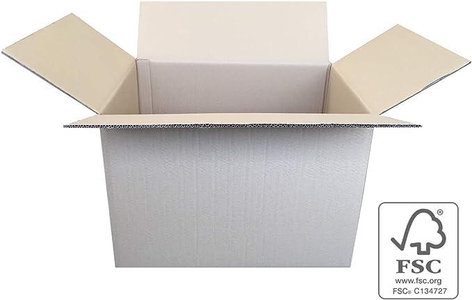 Pack de 10 Cajas de Cartón de Canal Doble y Color Marrón. Tamaño 53,5 x 38,5 x 37,5 cm. Mudanzas. Cajas Grandes de Almacenaje. Fabricadas en España. Cajeando: Amazon.es: Oficina y papelería