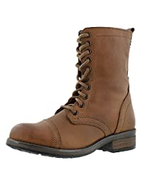 Steve Madden Women's Troopa 4.0 Lace Up Combat Boot