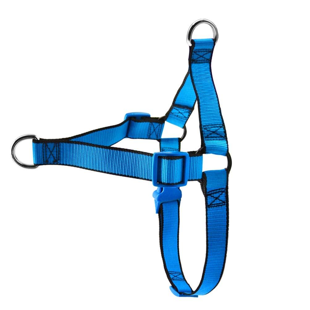 bluee M bluee M Jim Hugh Dog Harness No Pull Nylon Pet Vest Dogs Walking Harnesses for Medium Large Dogs Pink Green bluee S M L XL