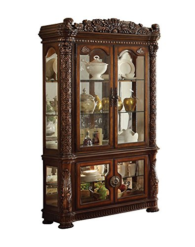 ACME Vendome Cherry Curio Cabinet
