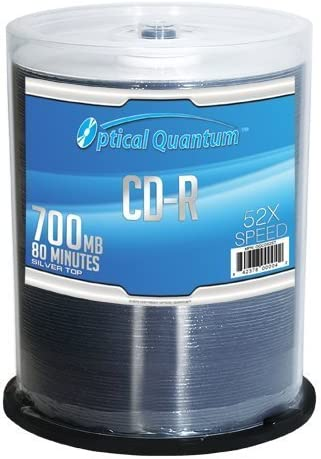 Optical Quantum OQBDR06WIP-H-25 25 Pack 6X 25GB BD-R Blu-ray Blank Disc White Inkjet Hub Printable