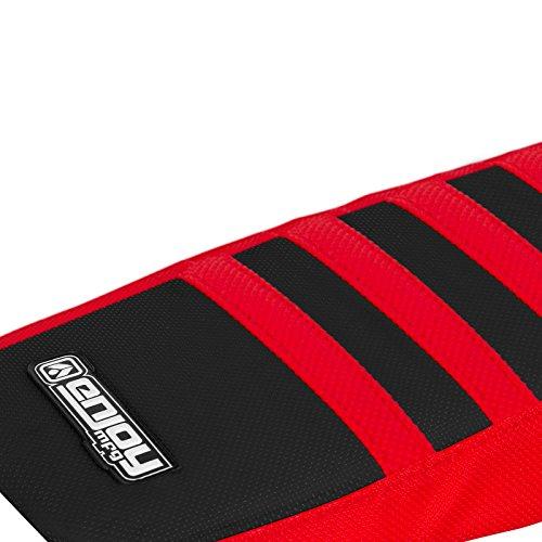 Enjoy MFG 2013 - 2015 Honda CRF 250 L Red Sides / Black Top / Red Ribs Seat Cover by Enjoy MFG (Image #1)