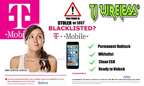 IPHONE 7- 6 - 5 USA T-Mobile Unblocking / Cleaning Service / IMEI Repair by TJ Wireless