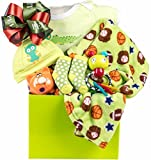 Unisex Baby Gift Basket by Pellatt Cornucopia with Baby Essentials and Toys