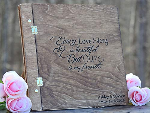 Guest Engraved Book (Rustic Wedding Guest Book - Wood Guest Book - Engraved Guest Book - Wedding Guest Book - Wood Wedding Guest Book - Guest Book Ideas - Guest Book Alternative)