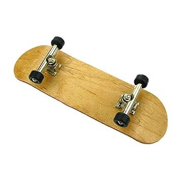 Complete Wooden Fingerboard Finger Skate Board Grit Box W// Plastic Tools Box