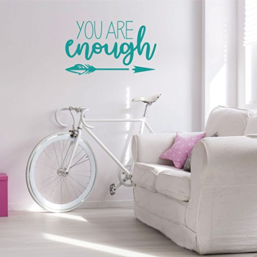 Arrow Wall Decal Decor- You Are Enough- Vinyl Sticker Decora
