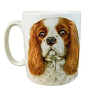 Waggy Dogz Cavalier King Carlos Spaniel Cachorro fabricado en Reino Unido Regalo Presente Calidad China Taza accesorio cafetera