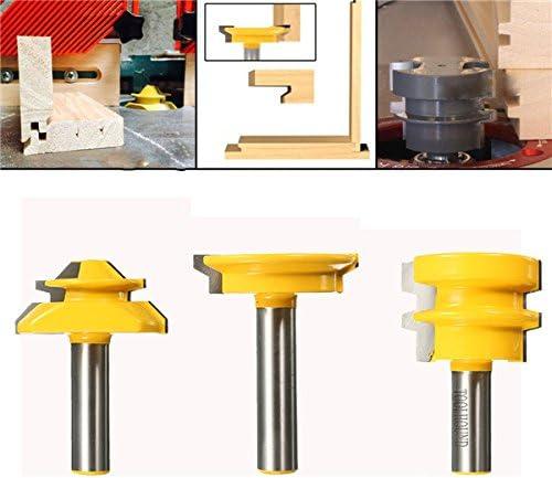 Queenwind 3 本1/2 インチシャンクルータビット木工ツール