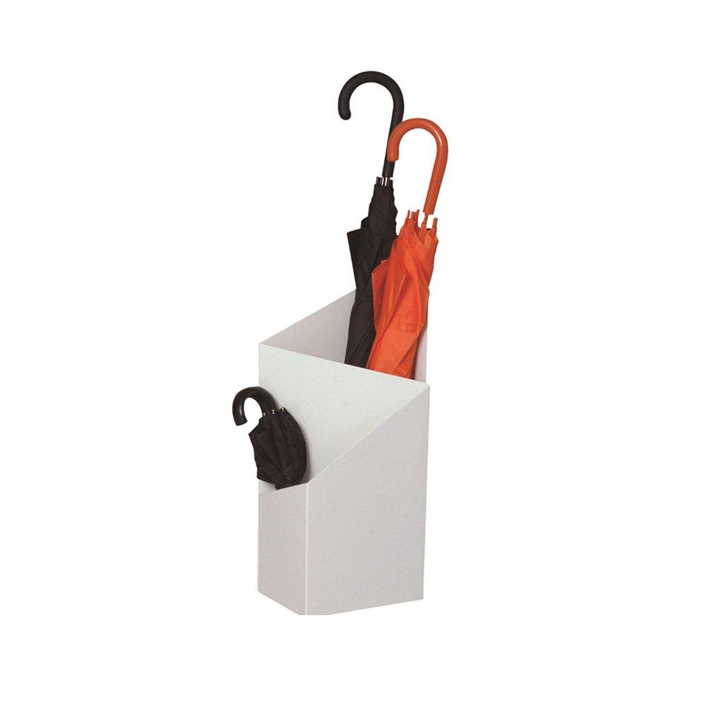 YUAN JIAN-Paragüero, Cubo De Paraguas, Adecuado para Ministerio del Interior, Expositor Paragüero, Soporte De Sombrilla, Blanco Y Negro, 25x20x60cm (Color : A:White, Tamaño : 1 Set)