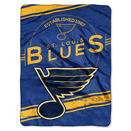 The Northwest Company Officially Licensed NHL St. Louis Blues Stamp Plush Raschel Throw Blanket, 60