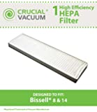 Bissell Style 8 & 14 Lift-Off Bagless HEPA Filter; Compare to Bissell Part# 3091; Designed & Engineered by Crucial Vacuum