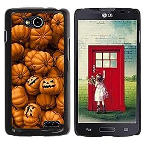 Paccase / SLIM PC / Aliminium Casa Carcasa Funda Case Cover para - Orange Pumpkin Evil Holiday - LG OPTIMUS L90 / D415