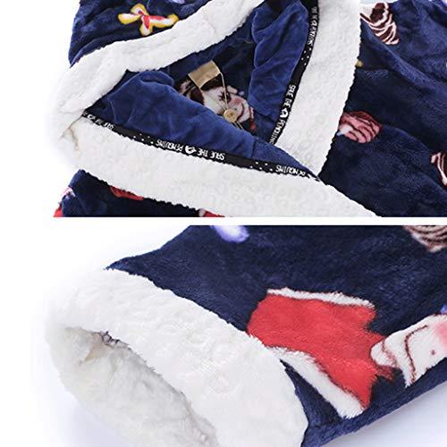 color Del Dulce De Albornoz Blue Coral Capucha A Con Terciopelo Size Blue Dibujos Versión Franela Servicio Sg Coreana Animados Hembra Camisón Domicilio Pijamas 0vXUwqnU