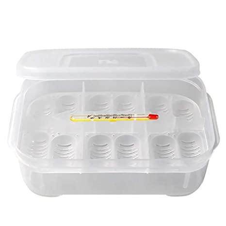 DAYSAIRY Incubador portátil para Reptiles, Caja de cría Brooder Hatching Contenedor 14 Huevos Agujeros con