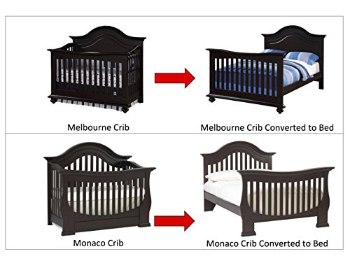 DISCOUNTED! - Full Size Conversion Kit Bed Rails for Baby Cache Cribs - Off White