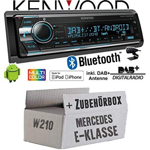 Einbauset f/ür Mercedes E- JUST SOUND best choice for caraudio 2X USB hinten Autoradio Radio Kenwood KDC-X7200DAB CD Bluetooth Einbauzubeh/ör DAB+ iPhone//Android