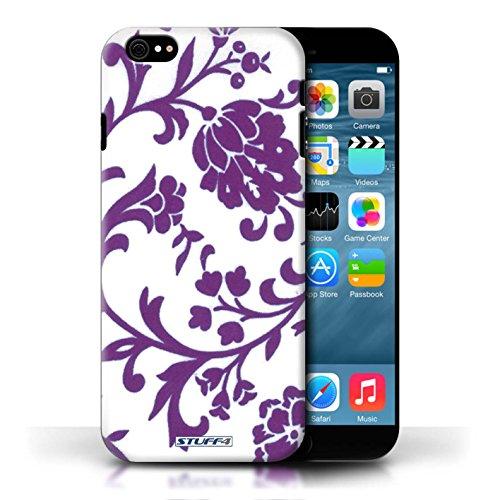 Etui / Coque pour Apple iPhone 6/6S / Fleurs Pourpre conception / Collection de Motif floral