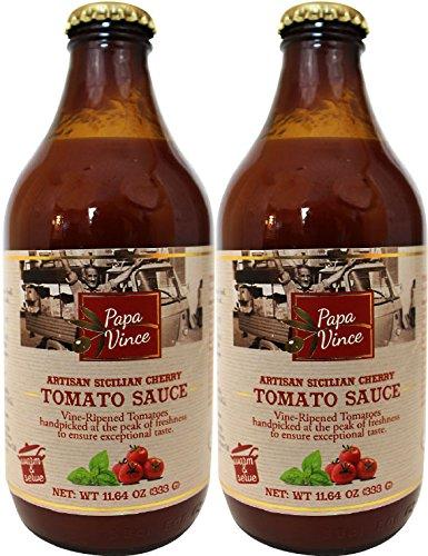 Salsa de tomate sin azúcares añadidos, baja en sodio, baja en ácido de Sicilia