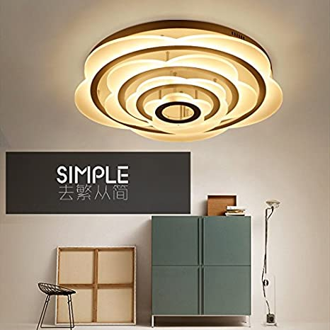 Sala de estar moderna acrílico simple lámpara led redonda ...