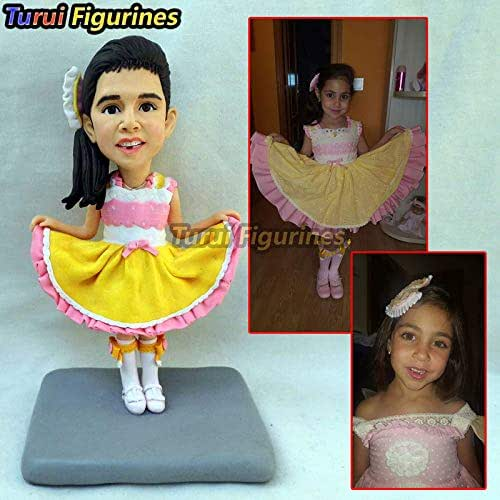 Amazon com: dancing girl figurine custom Head to Toe Couple Protrait
