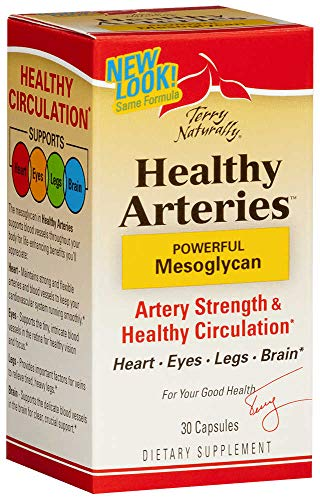 Terry Naturally Healthy Arteries - 50 mg Mesoglycan, 60 Capsules - Cardiovascular Support Supplement, Promotes Strong Blood Vessels & Circulation - Non-GMO, Gluten-Free - 60 Servings