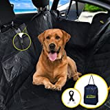 Cheap Autozon Car Dog Seat Cover for Pet – Waterproof Hammock Scratch Proof Nonslip Backing. Heavy Duty Backseat Cover for Cars Trucks and SUVs with Side Flaps, Zippers and Pockets.Free Bag + Dog Seat Belt