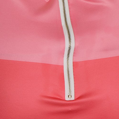 de A Poliéster Cóctel Club rosado Ajustado Pierna Noche Estampado Vestido Diseño Ropa Media Baoblaze 5qPX4