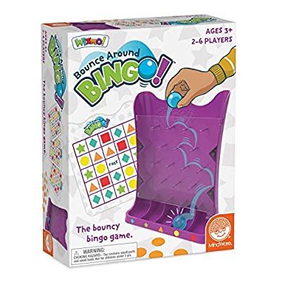 MindWare Wizmo: Bounce Around Bingo - Wacky & Active Educational Toys for Kids Ages 3 & up - Learn Probability, Shapes & Taking Turns - Boys & Girls Play Bingo Together: Toys & Games